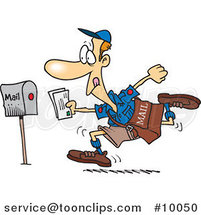 Cartoon Fast Post Guy by Ron Leishman