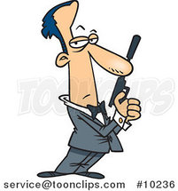 Cartoon Secret Agent by Ron Leishman