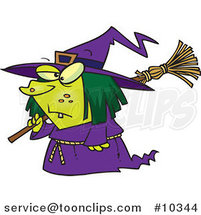 Cartoon Short Witch by Ron Leishman