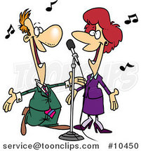 Cartoon Couple Singing by Toonaday