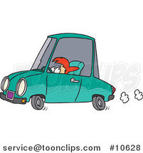 Cartoon Short Lady Driving by Ron Leishman
