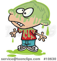 Cartoon Slimed Boy by Ron Leishman