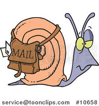 Cartoon Snail Mail by Ron Leishman