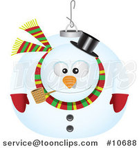 Cartoon Snowman Ornament by Toonaday