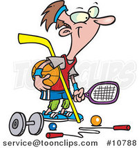 Cartoon Sporty Guy by Ron Leishman