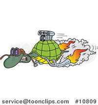 Cartoon Turbo Tortoise by Ron Leishman