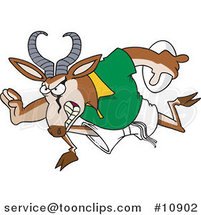 Cartoon Rugby Antelope Springbok by Ron Leishman