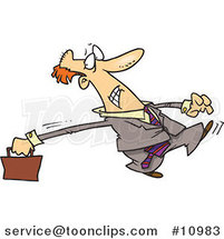 Cartoon Stretching Business Man by Ron Leishman