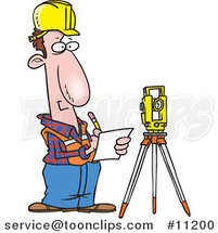 Cartoon Construction Surveyor by Ron Leishman
