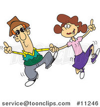 Cartoon Couple Swing Dancing by Ron Leishman