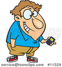Cartoon Devious Nerd with a Gadget 2 by Ron Leishman