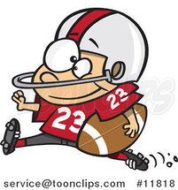 Cartoon Football Halfback Running by Ron Leishman