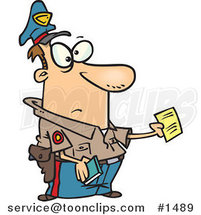Cartoon Cop Issuing a Ticket by Ron Leishman