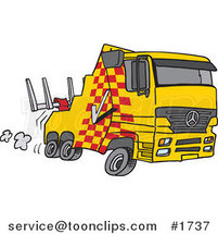 Cartoon Fast Tow Truck by Ron Leishman