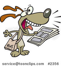 Cartoon News Dog by Ron Leishman