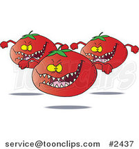 Cartoon Monster Tomatoes by Toonaday