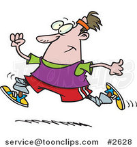 Cartoon Jogging Guy by Ron Leishman