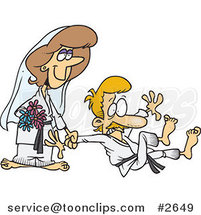 Cartoon Judo Wedding Couple by Toonaday