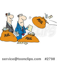 Cartoon Business Men and Incoming Mail by Ron Leishman