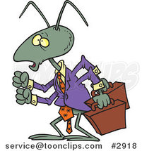 Cartoon Business Ant by Ron Leishman
