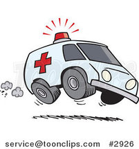 Cartoon Speeding Ambulance by Toonaday
