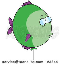 Cartoon Balloon Fish by Ron Leishman