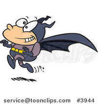 Cartoon Running Bat Boy by Ron Leishman