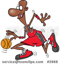 Cartoon Black Basketball Player by Toonaday