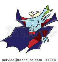 Cartoon Batty Vampire by Ron Leishman