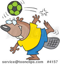 Cartoon Soccer Beaver by Toonaday
