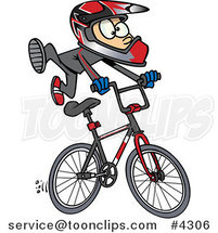 Cartoon BMX Boy by Ron Leishman