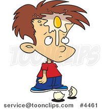 Cartoon Boy with an Egg on His Face by Ron Leishman