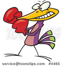 Cartoon Boxing Bird by Toonaday
