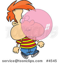 Cartoon Boy Blowing Bubble Gum by Ron Leishman