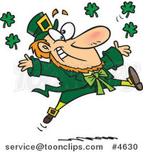 Cartoon Leaping Leprechaun by Ron Leishman