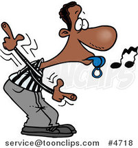 Cartoon Whistling Referee by Ron Leishman