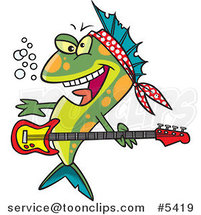 Cartoon Rocker Fish by Ron Leishman