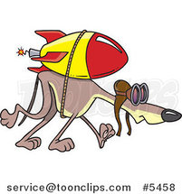 Cartoon Rocket Strapped to a Greyhound by Toonaday