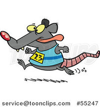 Cartoon Rat Running a Race by Toonaday