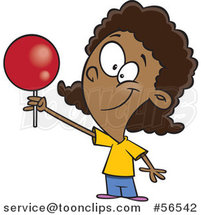 Cartoon Black Girl Holding up a Loli Pop by Toonaday