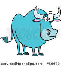 Cartoon Paul Bunyan's Babe the Blue Ox by Toonaday