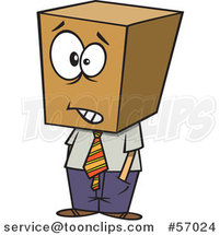 Cartoon Businessman with a Block Head by Toonaday