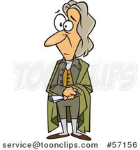Cartoon Guy, John Locke, Standing and Holding a Document by Toonaday