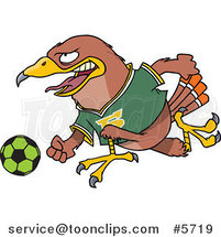 Cartoon Soccer Hawk by Ron Leishman