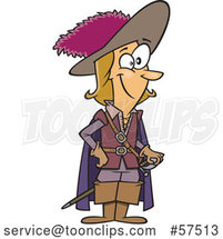 Cartoon Guy, Charles De Batz-Castelmore D Artagnan by Toonaday