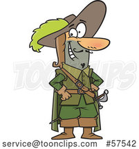 Cartoon Musketeer Standing with Hands on His Hips by Toonaday