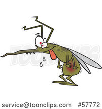 Drooling Cartoon Hungry Mosquito by Toonaday