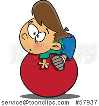 Cartoon White Boy on the Ball by Toonaday