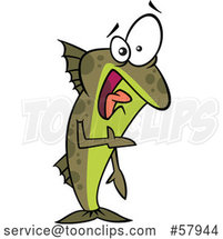 Cartoon Uncomfortable Fish out of Water by Toonaday