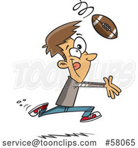 Cartoon Catching a Football by Toonaday